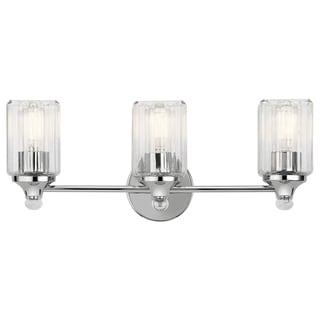 Kichler Lighting Riviera Collection 3-light Chrome Bath/Vanity Light