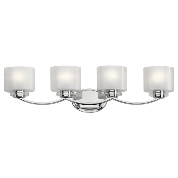 Kichler Lighting Reviews: Shop Kichler Lighting Archer Collection 4-light Chrome