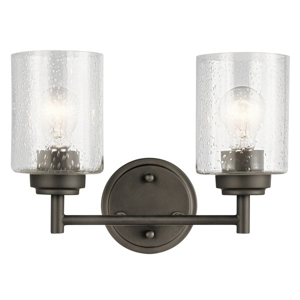 Barn Light Bathroom Vanity: Shop The Gray Barn Saffron 2-light Olde Bronze Bath Vanity