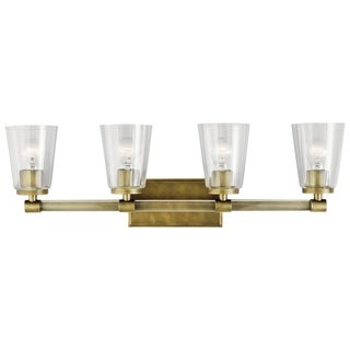 Kichler Lighting Audrea Collection 4-light Natural Brass Bath/Vanity Light
