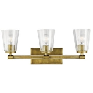 Kichler Lighting Audrea Collection 3-light Natural Brass Bath/Vanity Light