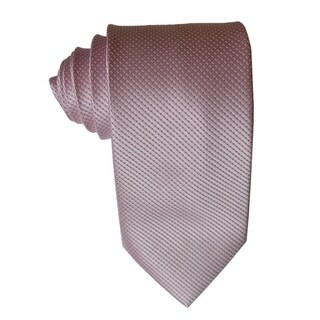 James Cavolini Italy Pink Diamond Textured Neck Tie