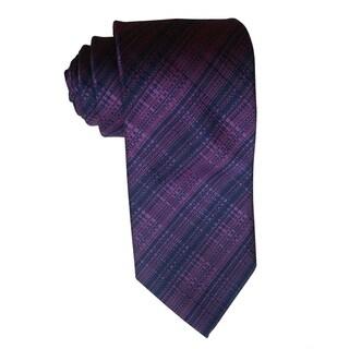 James Cavolini Italy Purple Fancy Plaid Neck Tie
