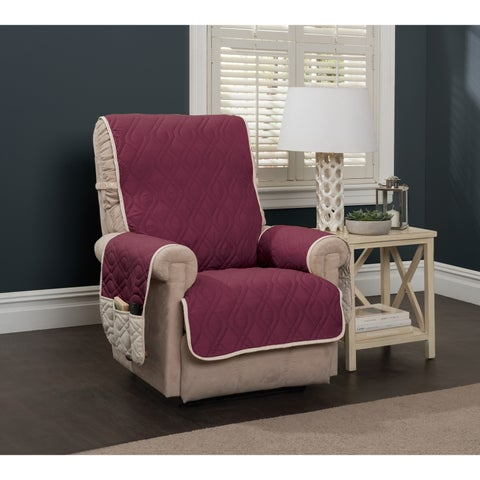 IITS Reversible Waterproof 5 Star Recliner Slipcover - wing chair