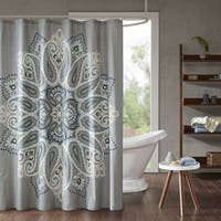 INK+IVY Sky Cotton Printed Shower Curtain 2-Color Option