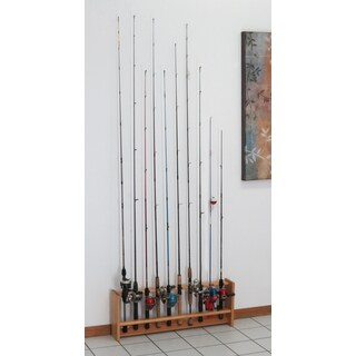 Fishing Rod Rack, 10 Rods, 4 Finish Options