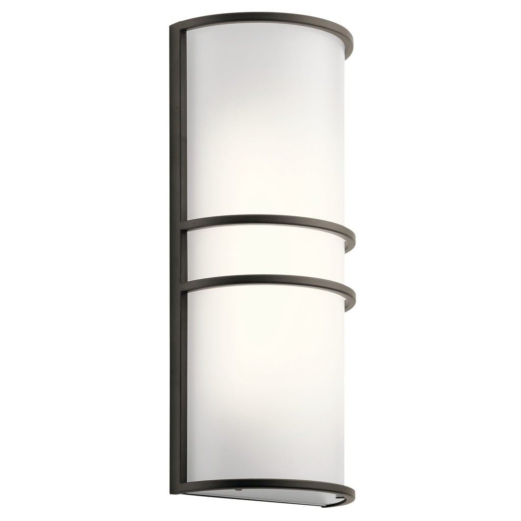 Image of: Shop Black Friday Deals On Kichler Lighting Transitional 2 Light Olde Bronze Led Wall Sconce Overstock 19556250