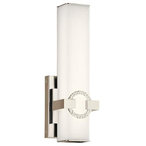 Kichler Lighting Bordeaux Collection 13-inch Polished Nickel LED Wall Sconce