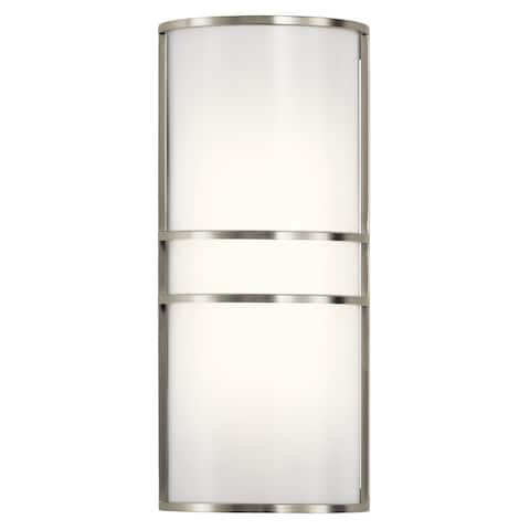 Kichler Lighting Transitional 2-light Brushed Nickel LED Wall Sconce - Brushed nickel