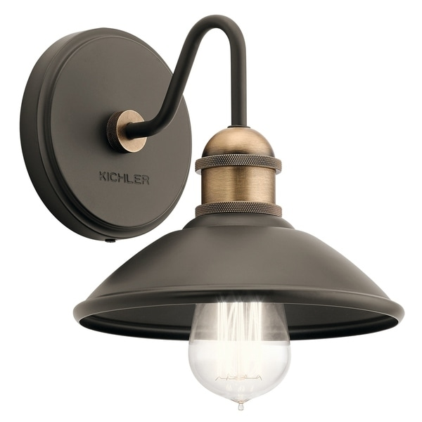 Kichler Lighting Reviews: Shop Kichler Lighting Clyde Collection 1-light Olde Bronze