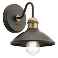 Kichler Lighting Clyde Collection 1-light Olde Bronze Wall Sconce