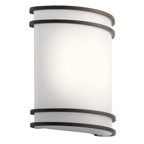 Kichler Lighting Utilitarian 1-light Olde Bronze LED Wall Sconce