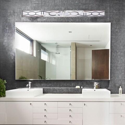 "Van Teal VT2376 49.25"" Brushed Nickel Lattice Cut Bath Bar"