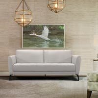 Armen Living Hope Contemporary Sofa in Genuine Dove Grey Leather