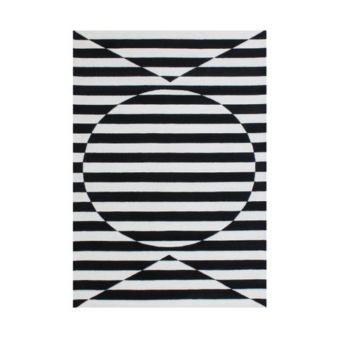 A stimulating optical illusion in the 3D design Rug