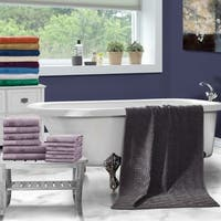 Superior 100-percent Cotton Honeycomb Jacquard and Solid 12-piece Towel Set