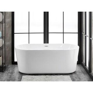 Finesse Accent Freestanding Acrylic 67-inch x 31-inch Soaking Bathtub