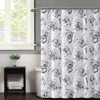 Christian Siriano Graphic Floral Printed Shower Curtain
