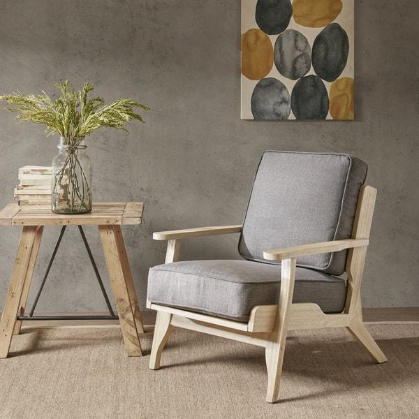 Stupendous Shop Ink Ivy Malibu Grey Fabric Lounge Chair Free Shipping Machost Co Dining Chair Design Ideas Machostcouk