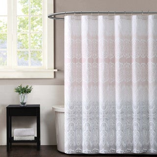 Christian Siriano Ombre Lace Printed Shower Curtain