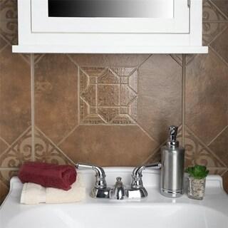 SomerTile 17.625x17.625-inch Turia Teja Ceramic Floor and Wall Tile (7 tiles/15.53 sqft.)