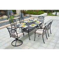 Gracewood Hollow Kidwell Cast Aluminum 7-piece Outdoor Dining Set