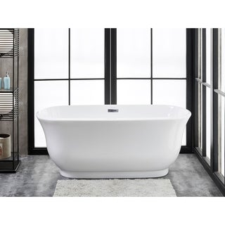 Finesse Julieta White Acrylic 67-inch x 30-inch Freestanding Soaking Bathtub