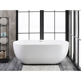 "Siena 67"" x 31"" Freestanding Acrylic Soaking Bathtub"
