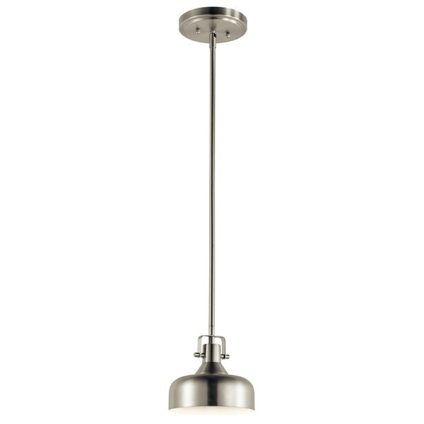 Kichler Lighting Transitional 1-light Brushed Nickel LED Mini Pendant