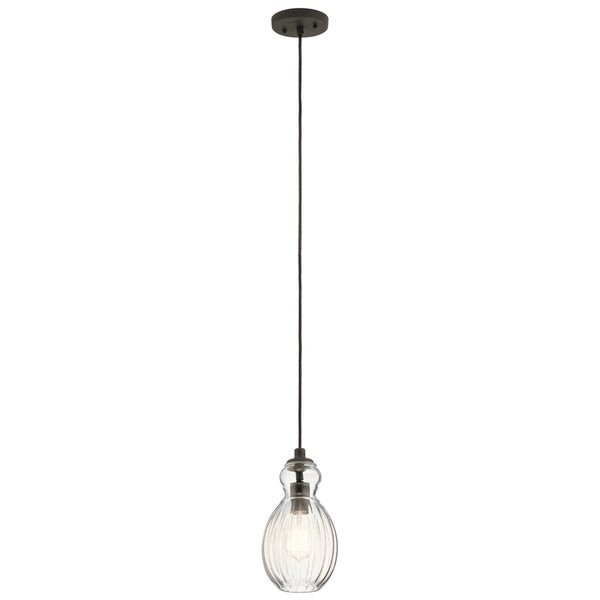 Kichler Lighting Riviera Collection 1-light Olde Bronze Mini Pendant