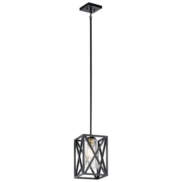 Kichler Lighting Moorgate Collection 1-light Black Mini Pendant