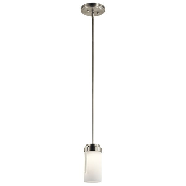 Kichler Lighting Transitional 1-light Brushed Nickel LED Mini Pendant - Brushed nickel