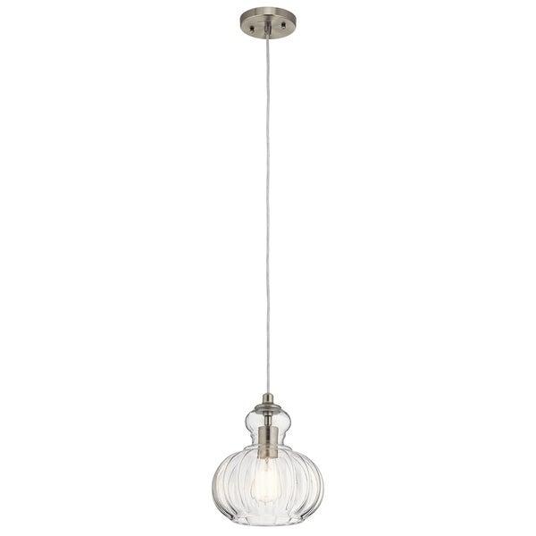 Kichler Lighting Riviera Collection 1-light Brushed Nickel Mini Pendant