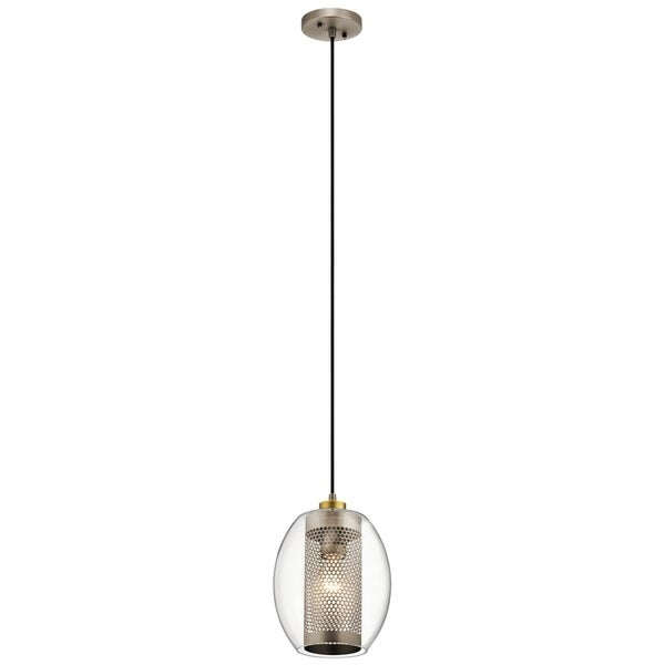 Kichler Lighting Asher Collection Antique Pewter Single-light Mini Pendant with Clear Glass Shade
