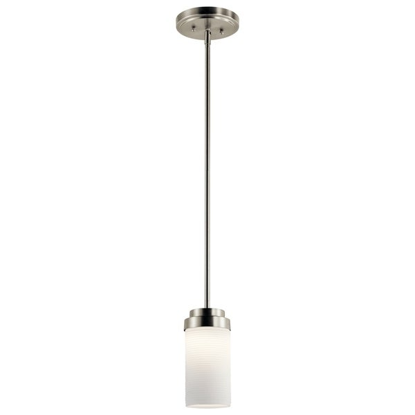 Kichler Lighting Transitional 1-light Brushed Nickel LED Mini Pendant - Brushed nickel