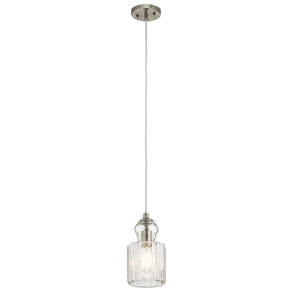 Kichler Lighting Riviera Collection 1-light Brushed Nickel Mini Pendant - Brushed nickel