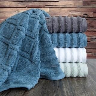 Prescott 6 Piece Textured Towel Set in White