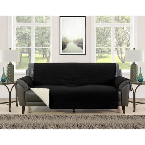 Asher Home Berkley Microfiber Reversible Couch Protector
