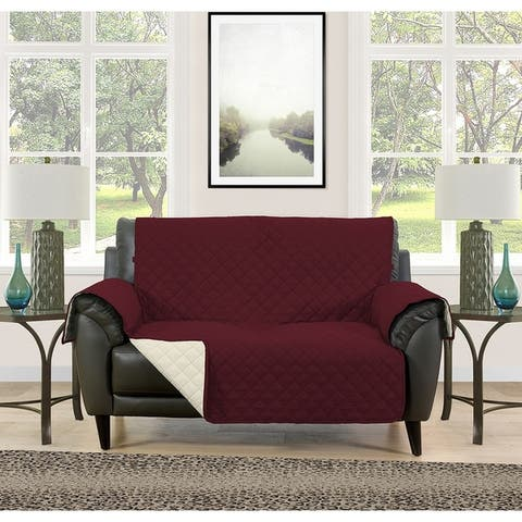 Asher Home Berkley Microfiber Reversible Loveseat Protector