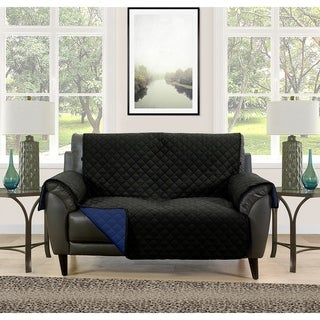 Asher Home Berkley Microfiber Reversible Loveseat Protector (More options available)