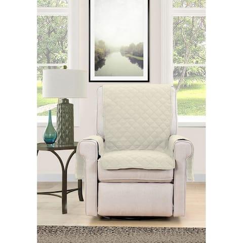 Asher Home Berkley Microfiber Reversible Chair Protector