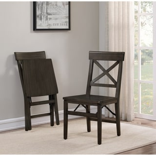 The Gray Barn X Back Folding Chair Charcoal (Set Of 2)