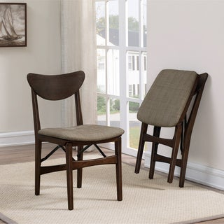 Carson Carrington Mid Century Folding Chair Natural Weave (Set Of 2)
