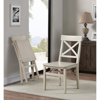The Gray Barn X Back Folding Chair Alabaster White (Set of 2)
