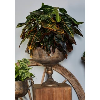 18 X 14 inch Traditional Iron Chalice Urn Planter
