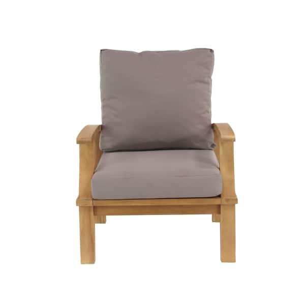 Shop 4-Piece Elegant Teak Wood Sofa Set - Free Shipping ...