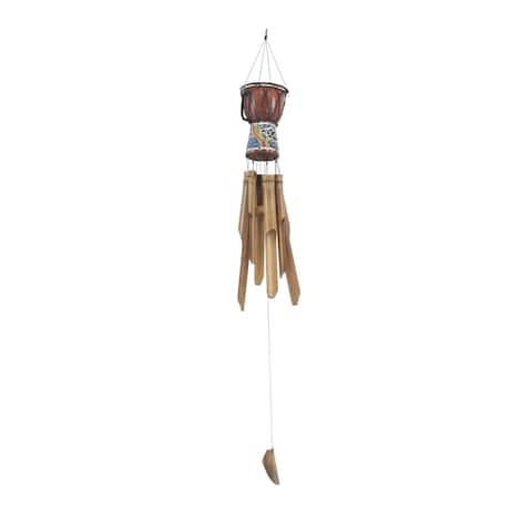 Traditional Wooden Drum Wind Chime