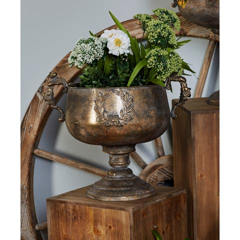 14 X 11 inch W Traditional Iron Chalice Urn Planter