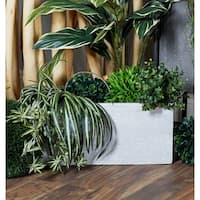 Set of 3 Modern 9, 12, and 15 Inch Rectangular Planters by Studio 350