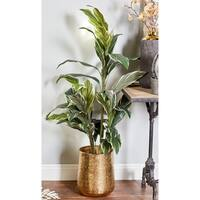 Set of 3 Modern 12, 16, and 20 Inch Round Gold Planters by Studio 350